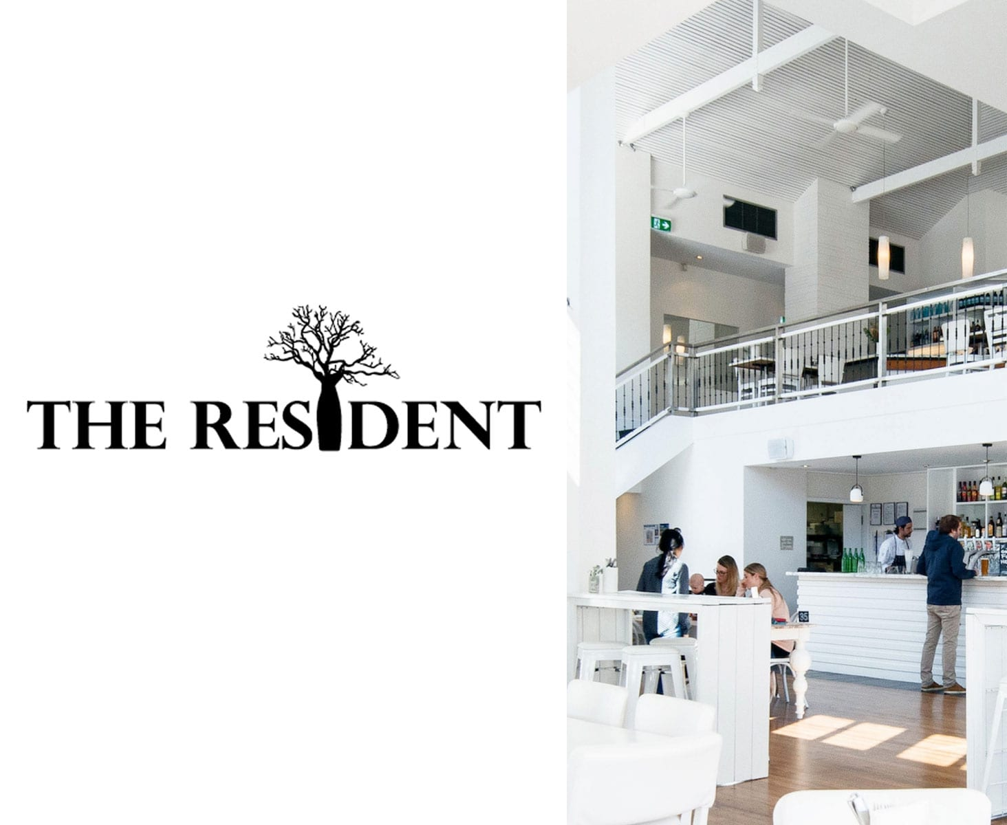The Resident Bar Logo Design